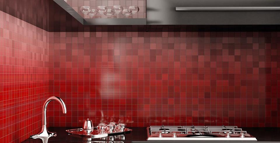Cervatto Mosaik 10x10cm Rot Feinsteinzeug Glasiert | Www.kemmler.de
