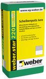 weber.star 220 Scheibenputz Jura Korn 1,5 mm
