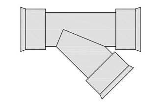 hegler plastik siroplast k abzweig 45 grad nennweite. Black Bedroom Furniture Sets. Home Design Ideas