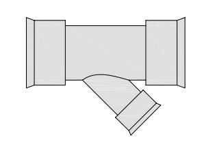 hegler plastik siroplast k abzweig 45 grad mit. Black Bedroom Furniture Sets. Home Design Ideas