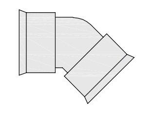 hegler plastik siroplast k bogen 45 grad nennweite dn350. Black Bedroom Furniture Sets. Home Design Ideas