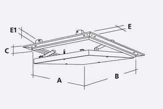 riegelhof revisionsklappe aluplana 600x600 mm 1x12 5 mm impr gnierte. Black Bedroom Furniture Sets. Home Design Ideas