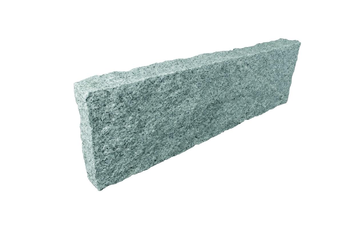 kemmler granit-palisade 250x100x400 mm, gespalten und gespitzte