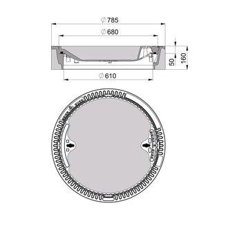 beton guss schachtabdeckung klasse d 400 rund ohne ventilation. Black Bedroom Furniture Sets. Home Design Ideas