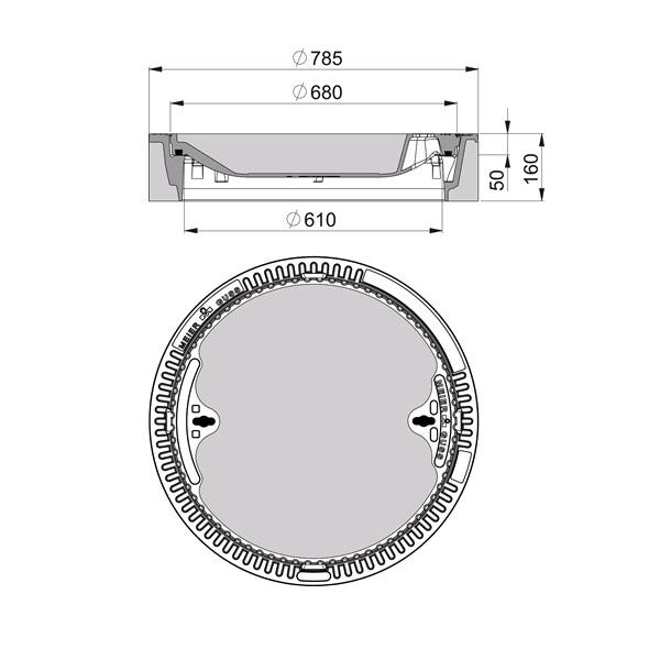 Bevorzugt Beton-Guss Schachtabdeckung Klasse D 400 - rund - ohne Ventilation MX32