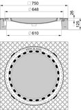 MEIERGUSS Beton-Guss-Schachtabdeckung - 102050 rund mit Lüftung