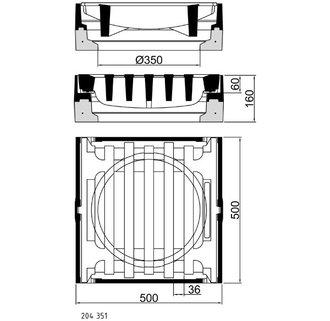 Beton-Guss-Aufsatz 500 x 500