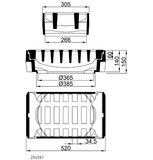 Längsaufsatz 300x500 SW34,5 Kl.D PF m.E.