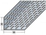 Protektorwerk Lüftungswinkel Rechtecklochung beidseitig 2500x50x30x0,8 mm Schwarz