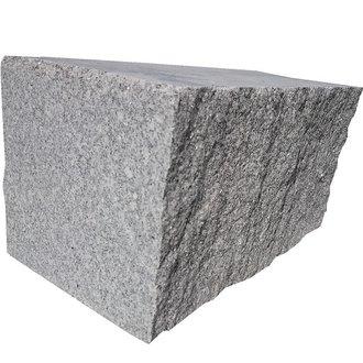 kemmler mauerstein spanischer granit 400x200x200 mm vierseitig ges gt grau. Black Bedroom Furniture Sets. Home Design Ideas