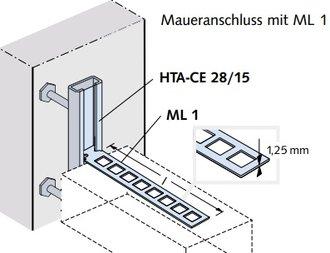 halfen maueranschlu anker ml 120 a4 l nge 120 mm senkrecht verschiebbar aus edelstahl v4a. Black Bedroom Furniture Sets. Home Design Ideas