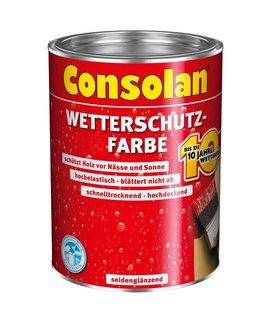 consolan wetterschutz farbe 2 5 l gebinde wei f r au en. Black Bedroom Furniture Sets. Home Design Ideas
