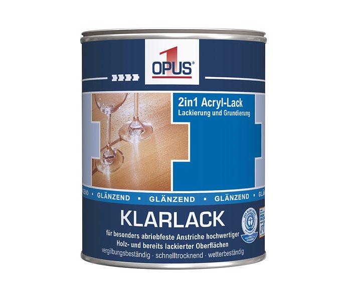 Opus1 Klarlack 750 Ml Gebinde Glanzend Fur Innen Und Aussen Www