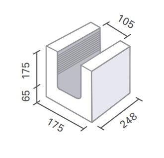 heidelberger ks u schale ks u is 6df 240x175x240 mm rohdichte 2 0 f r sichtmauer. Black Bedroom Furniture Sets. Home Design Ideas