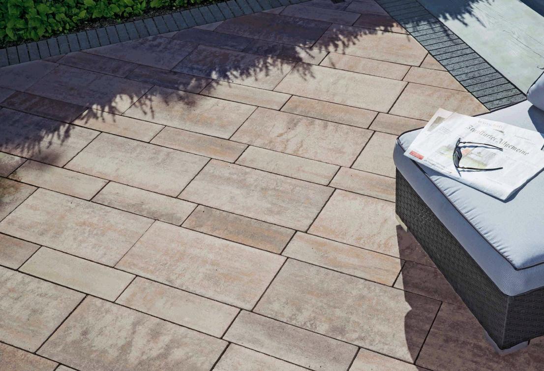 kronimus terrassenplatte grandezza 600x300x80 mm, seidenmattierte