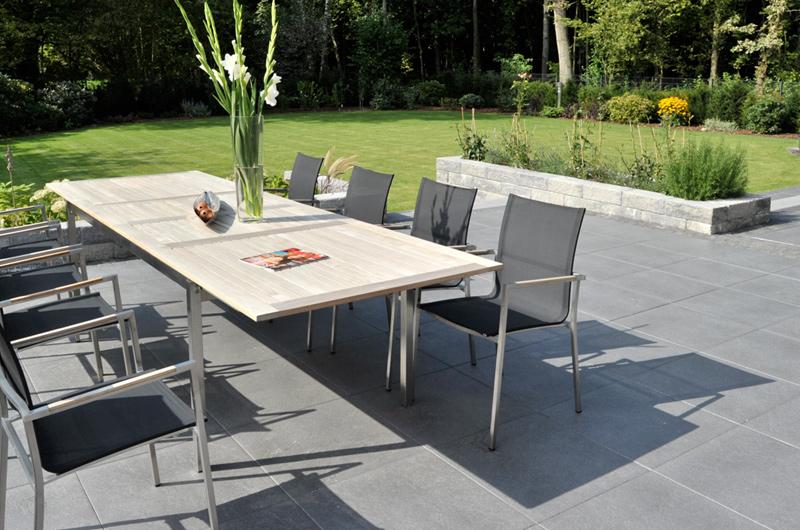 Braun Beton Terrassenplatte Glatt Mit Fase 500x500x40 Mm Grau