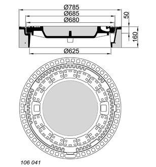 meier guss beton guss schachtabdeckung 106041 rund klasse f 900 ohne ventilation mit. Black Bedroom Furniture Sets. Home Design Ideas