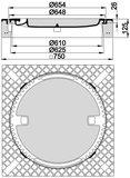 MEIERGUSS Beton-Guss-Schachtabdeckung - 102060 quadratisch ohne Lüftung