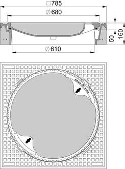 beton guss schachtabdeckung klasse d quadratisch ohne ventilation. Black Bedroom Furniture Sets. Home Design Ideas