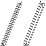 VELUX Verlängerungsteile ETW WK34 0000 WK34 ETW 0000 - Ziegel/hoch Welle