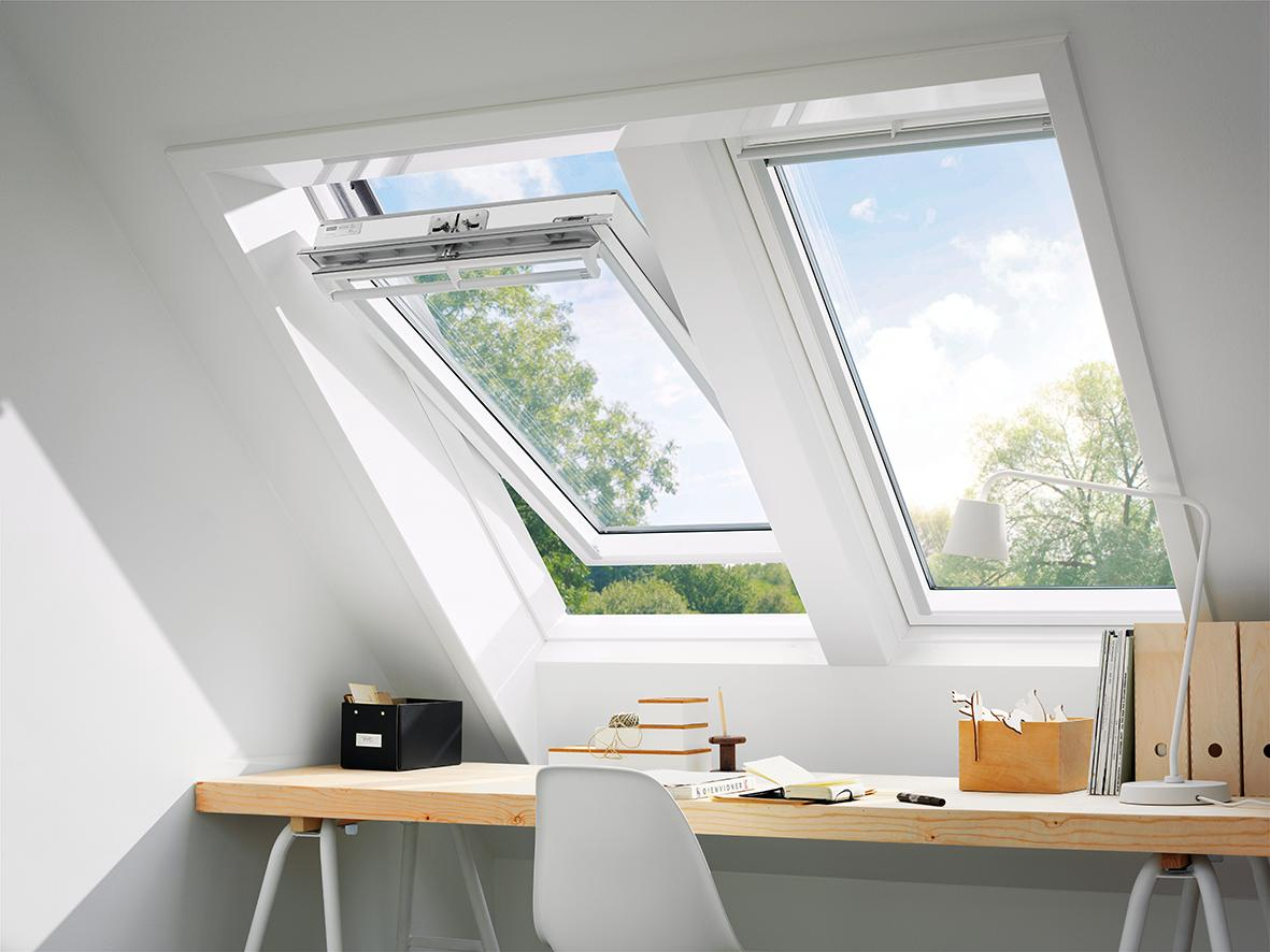 velux fenster ggl ck06.2070 thermo holz, weiß - 550x1180 mm | www
