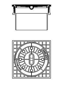 hegler sirobau schachtabdeckung klasse b 125 f r sirobau s. Black Bedroom Furniture Sets. Home Design Ideas