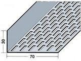 Protektorwerk Lüftungswinkel Rechtecklochung einseitig 2500x70x30x0,8 mm Schwarz