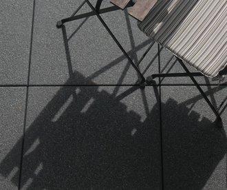terrassenplatte pamplona sandgestrahlt 400x400x42 mm anthrazit. Black Bedroom Furniture Sets. Home Design Ideas