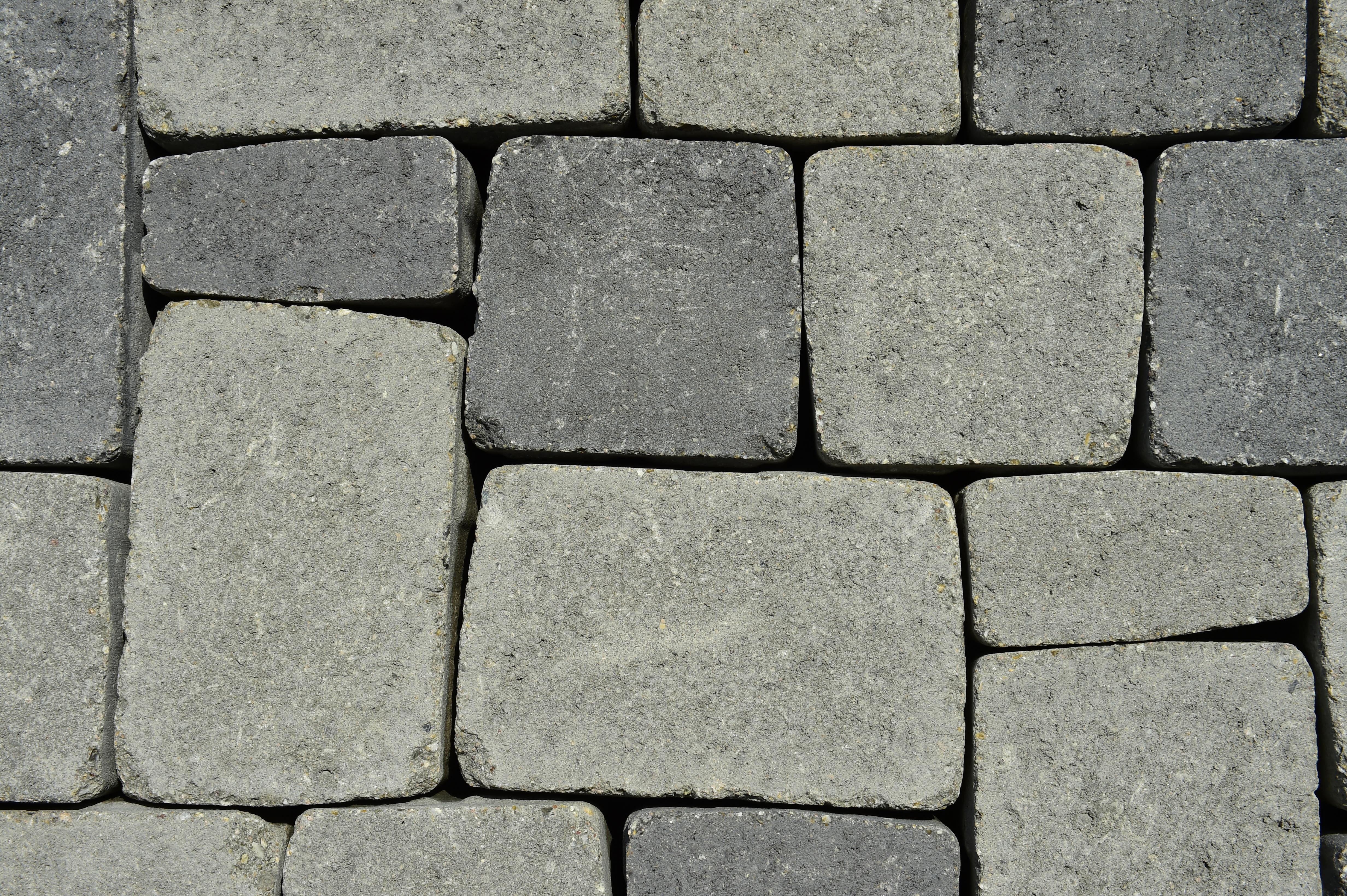 kemmler granit pflaster 90x90x80 mm, gestockt/gesägt, grau 603 | www