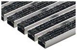 ACO Hochbau Vario Schuhabstreifermatte 750x500x20 mm Rauhaarripsstreifen