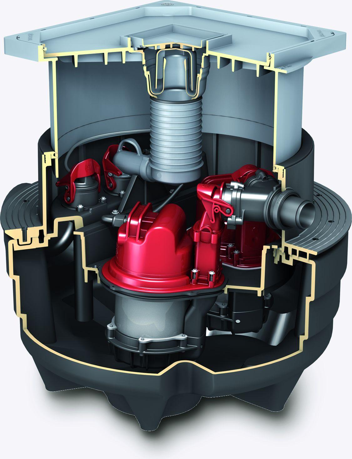 KESSEL-Verlängerungsstück mit mittigem Flansch für WU, H 360 mm ...