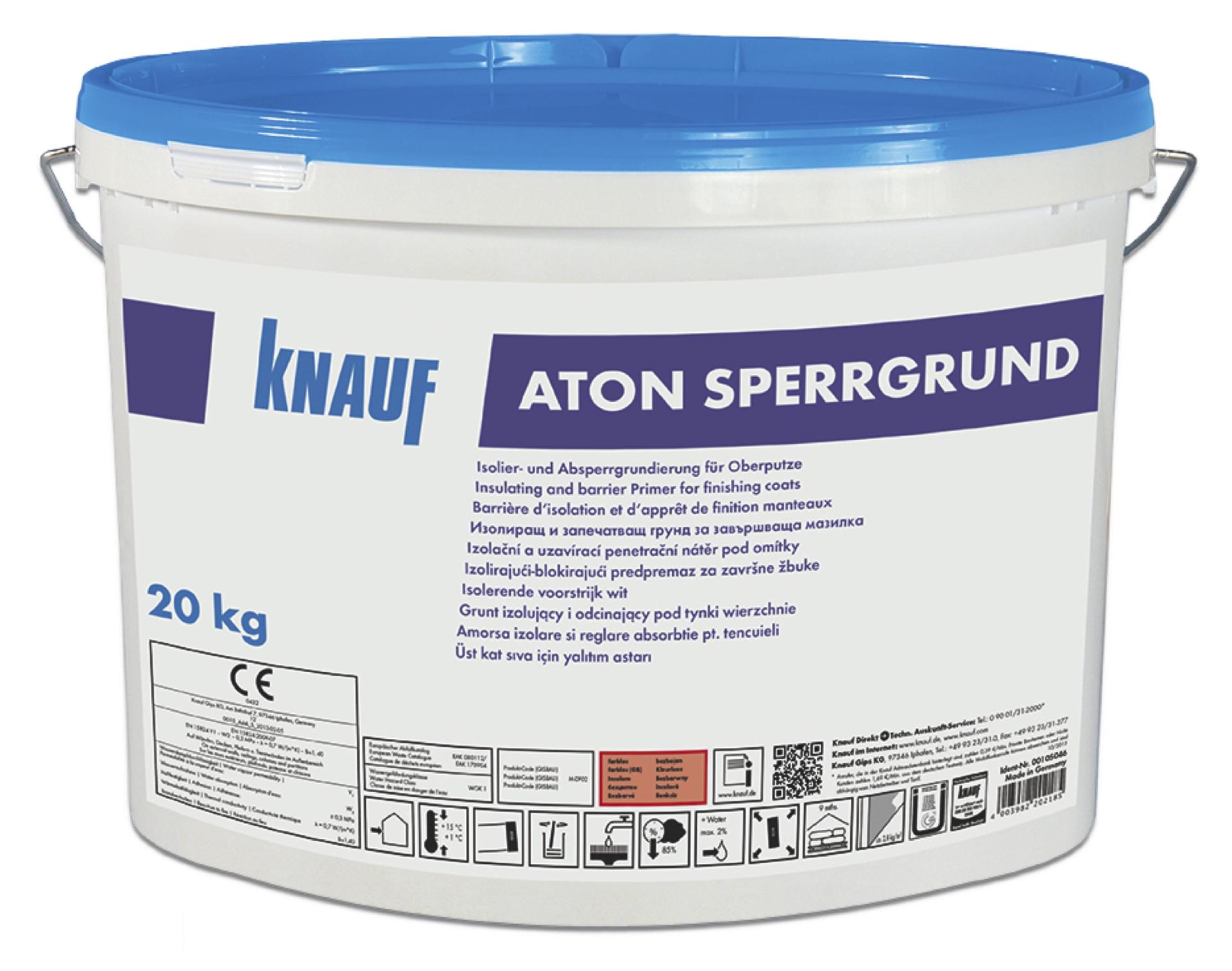 knauf aton-sperrgrund (putzgrund) weiß - pigmentiert - 5 kg/eimer
