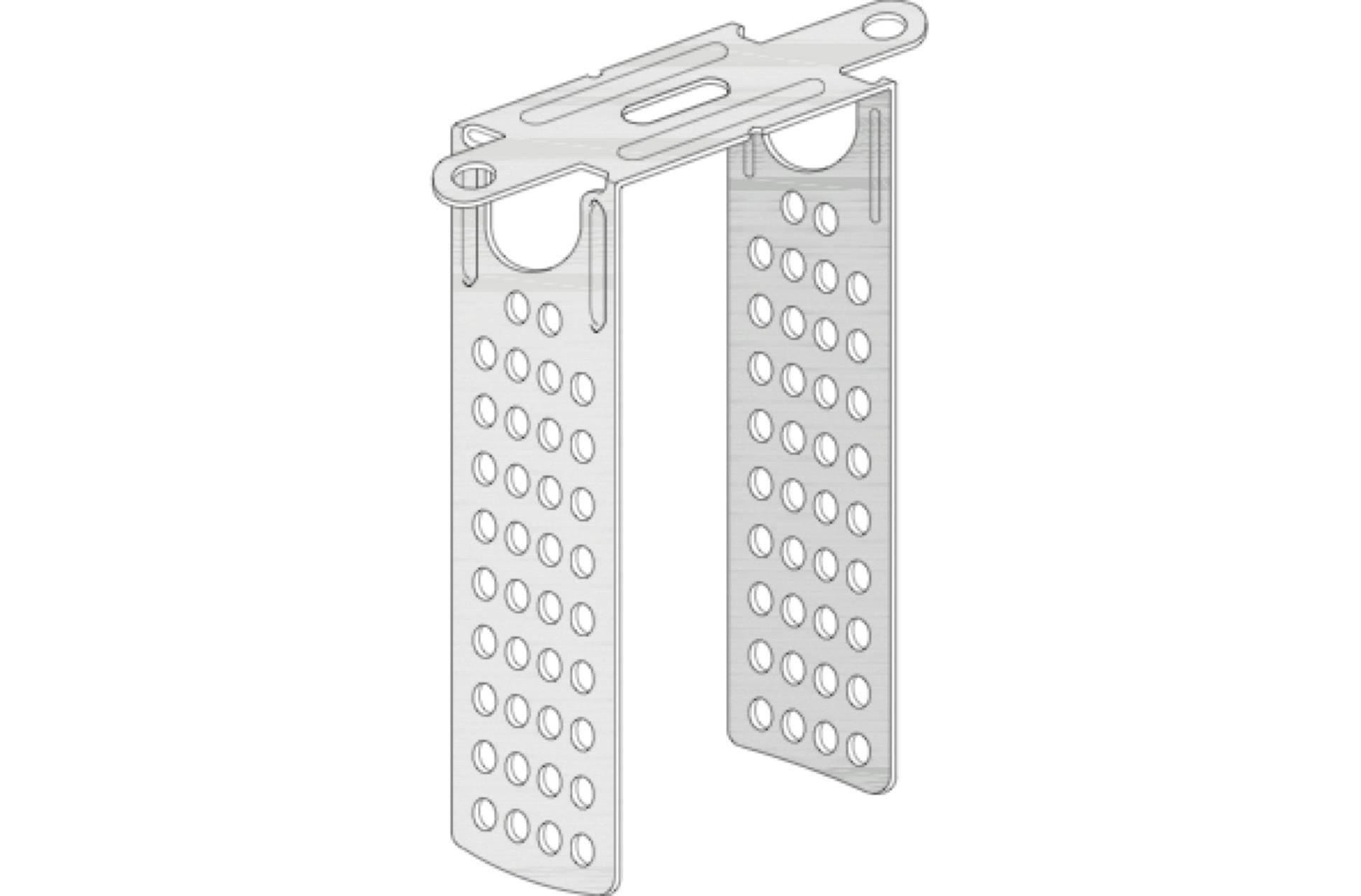 knauf direktabhänger für holzlatten 50 mm, 120 mm lang, ungebogen