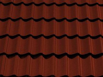 Dachziegel dunkelrot  Eternit Dachsteine Göteborg Dunkelrot B 303 | www.kemmler.de