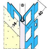 Protektorwerk Kantenprofil Innen und Außenputz 2500 mm Putzdicke 14 mm