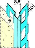 protektorwerk kantenprofil innenputz 1018 l nge 2250 mm putzdicke 10 mm stahl verzinkt 25. Black Bedroom Furniture Sets. Home Design Ideas