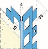 protektorwerk putzabschlussprofil innen 1231 l nge 3000 mm putzdicke 10 mm stahl verzinkt 25. Black Bedroom Furniture Sets. Home Design Ideas