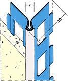 protektorwerk kantenprofil innenputz 9807 l nge 2600 mm putzdicke 8 mm aluminium mit wei er. Black Bedroom Furniture Sets. Home Design Ideas