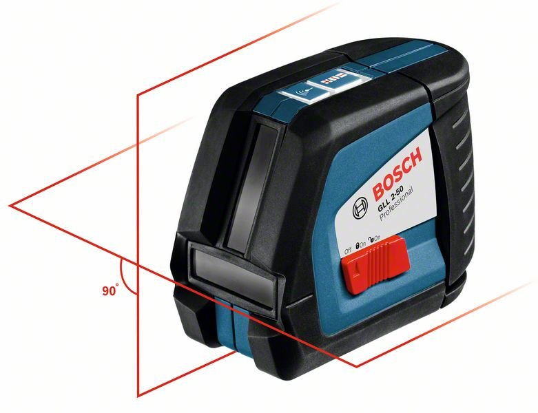Laser Entfernungsmesser Linienlaser : Bosch linienlaser gll 2 50 mit schutztasche www.kemmler.de