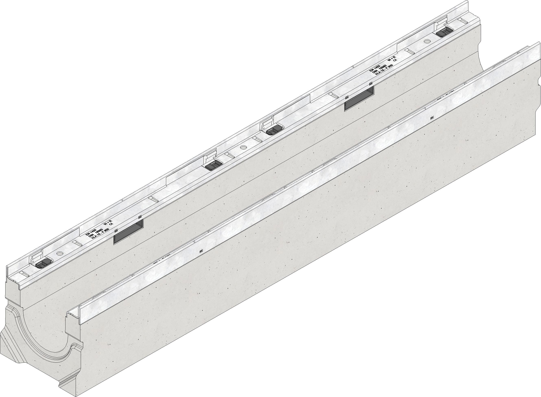 Hervorragend BIRCOlight NW100 Rinne mit Gefälle Klasse A-E, Nr.1, BL=1000 mm SW77