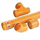 Awadukt-PP SN 10 Einfachabzweig KGEA DN250/160 orangebr.